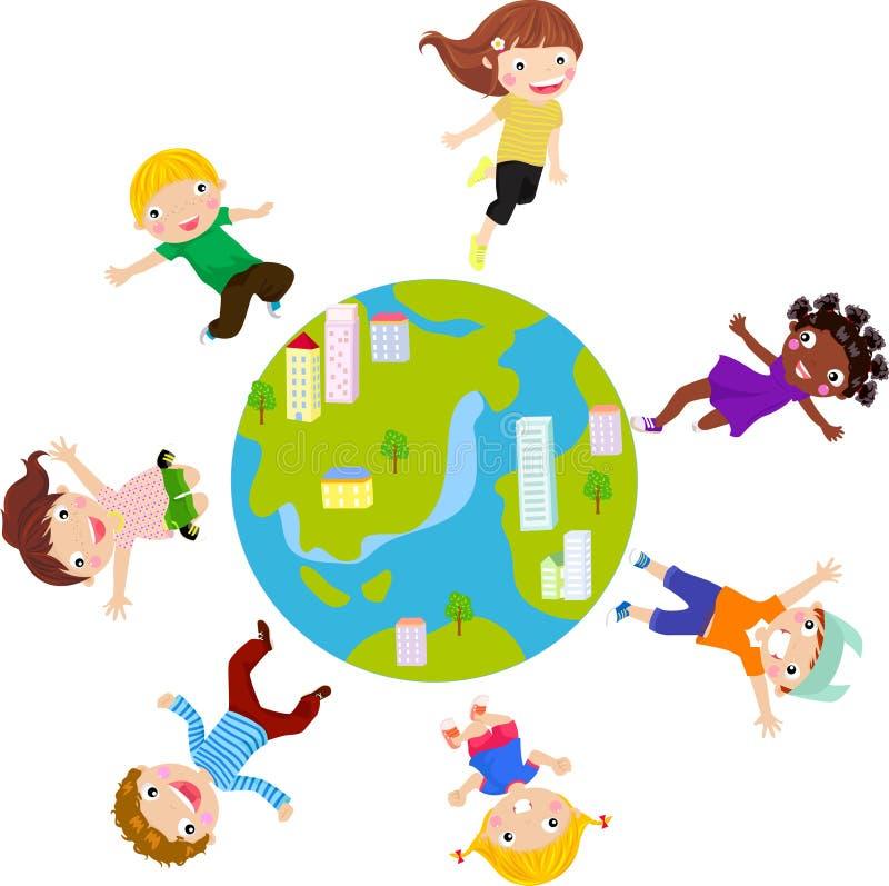 Niños del mundo ilustración del vector