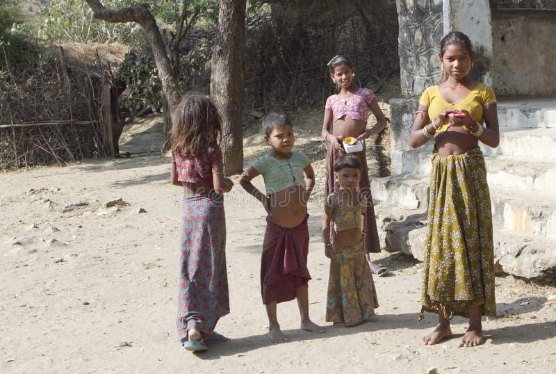 Niños del pueblo Goriya fotografía de archivo libre de regalías