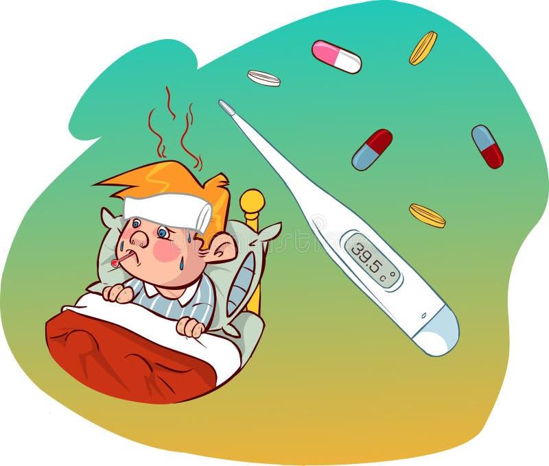 Niños del sarampión libre illustration