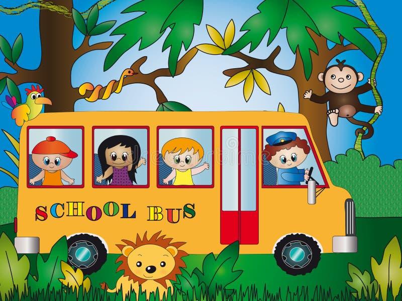 Niños en el parque zoológico libre illustration