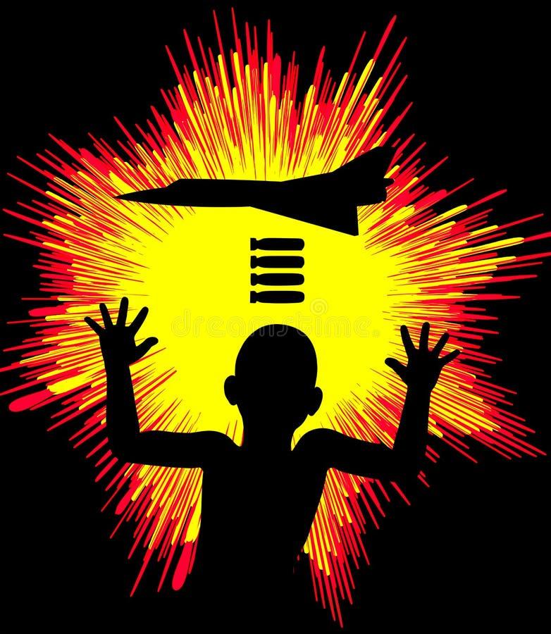 Niños en guerra stock de ilustración