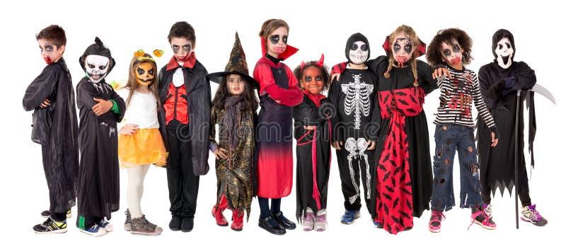 Niños en Halloween fotografía de archivo