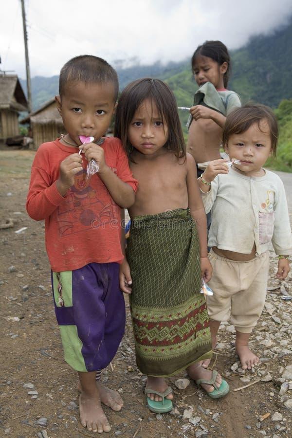Niños en Laos fotografía de archivo libre de regalías
