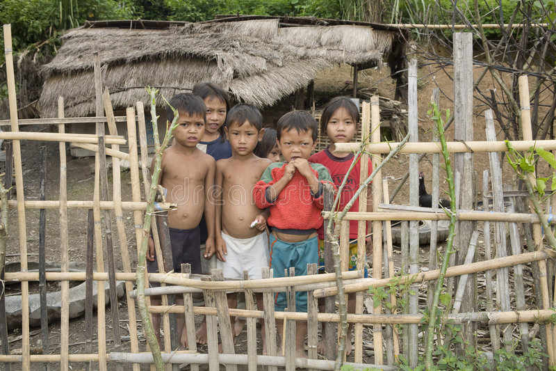 Niños en Laos fotos de archivo libres de regalías