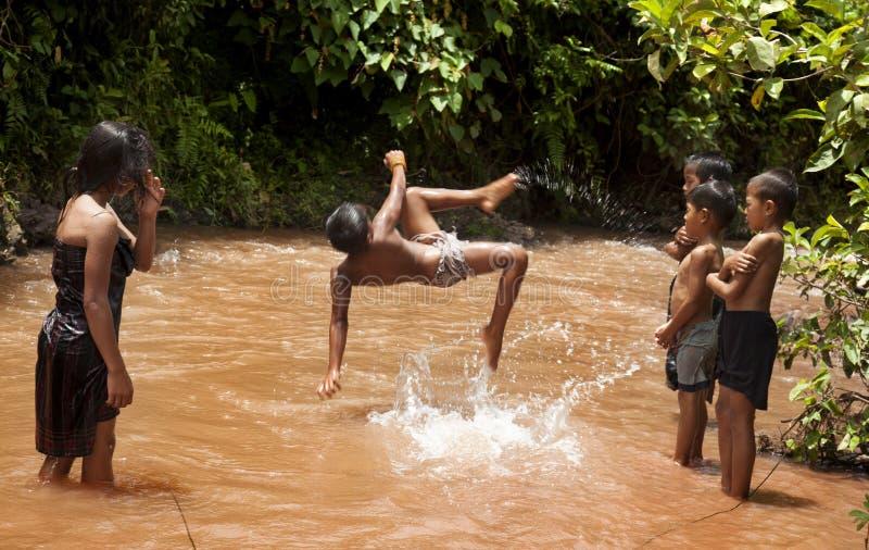 Niños en Laos foto de archivo libre de regalías