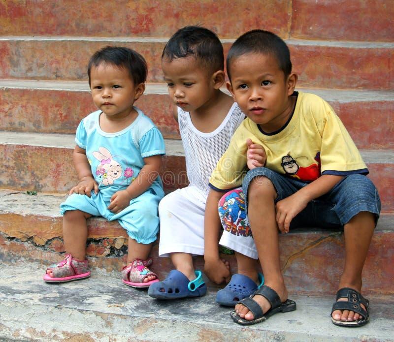 Niños en Malasia fotografía de archivo
