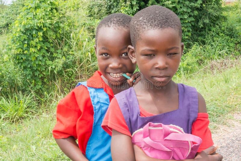 Niños en Malawi foto de archivo