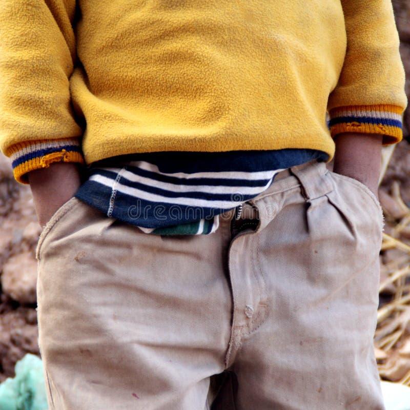 Niños en Suramérica foto de archivo