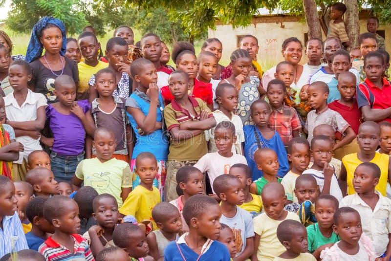 Niños en Tanzania fotografía de archivo