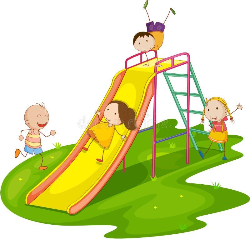 Niños en una diapositiva libre illustration