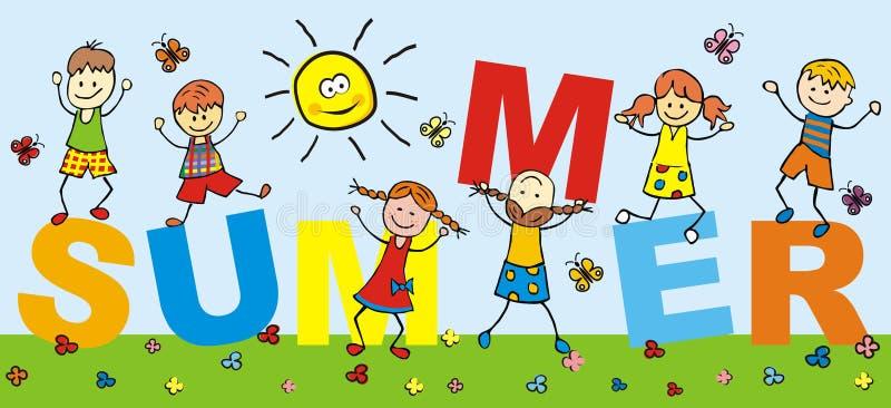 Niños felices, día de fiesta libre illustration