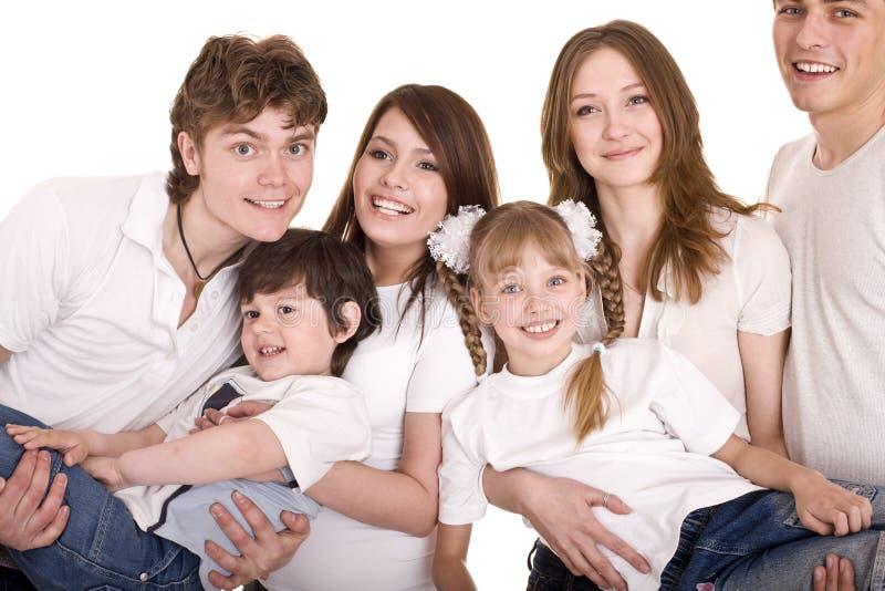 Niños felices de la educación de la familia. foto de archivo libre de regalías