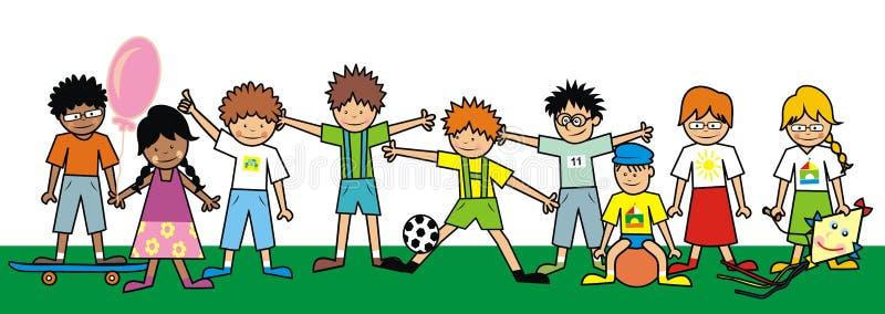 Niños, grupo ilustración del vector