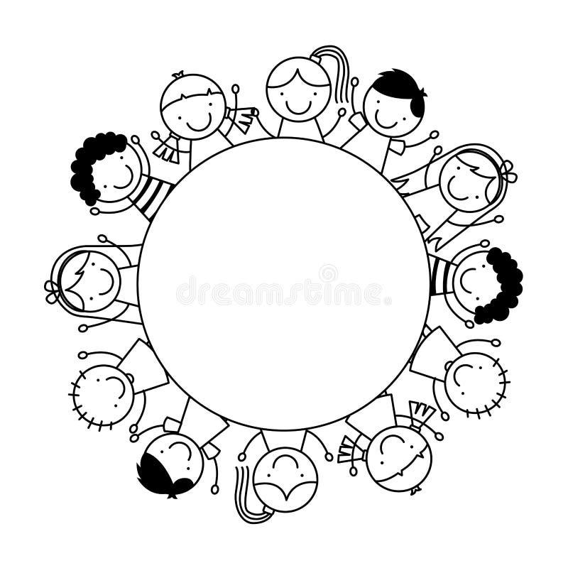 Niños lindos libre illustration