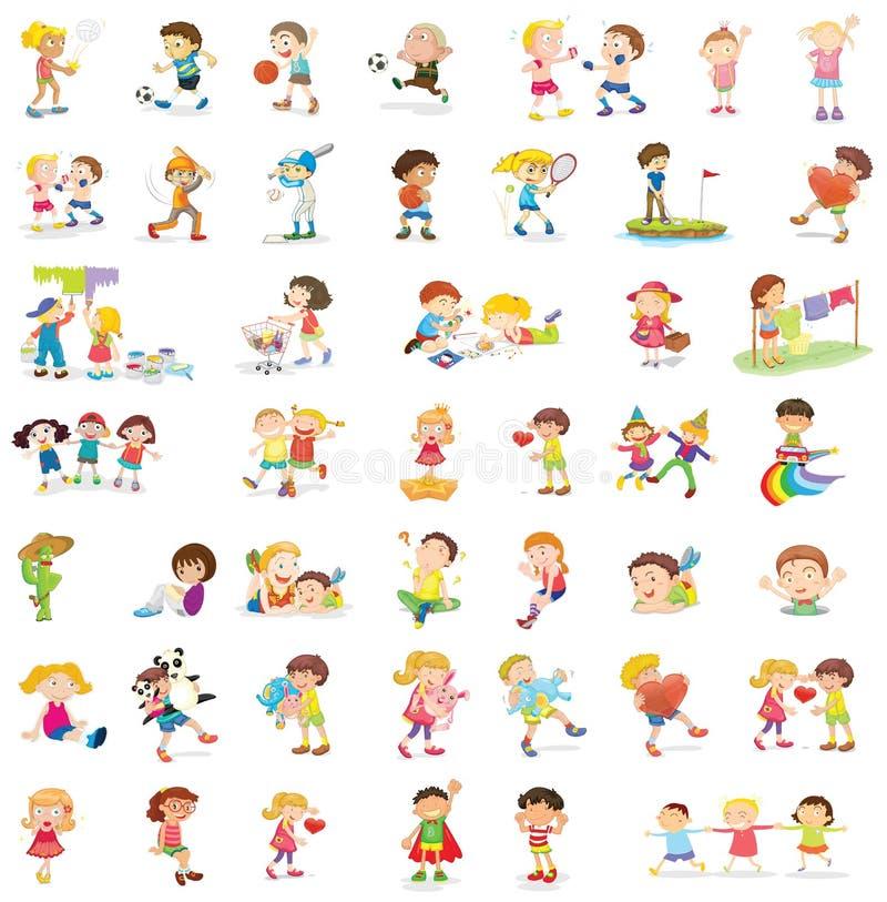 Niños mezclados stock de ilustración