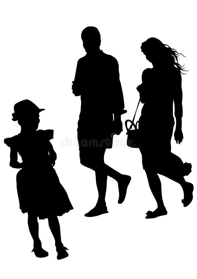 Niños ocho de la pizca de Famely ilustración del vector