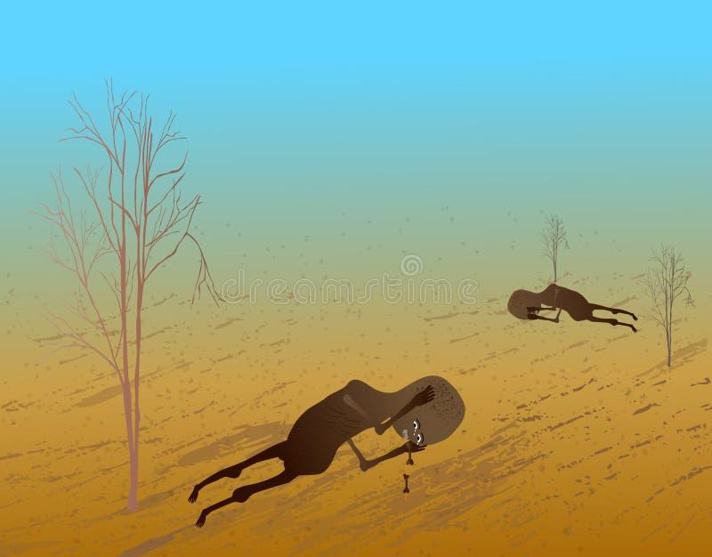 Niños pobres africanos de la ayuda libre illustration