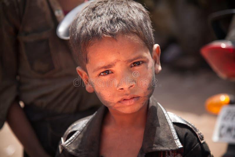 Niños pobres indios (mendigo) foto de archivo libre de regalías