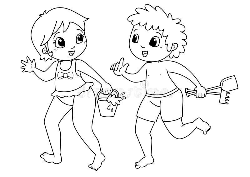 Niños que dibujan para colorear fotografía de archivo libre de regalías