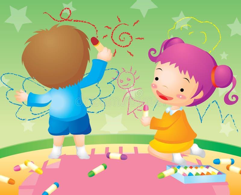 Niños que garabatean libre illustration
