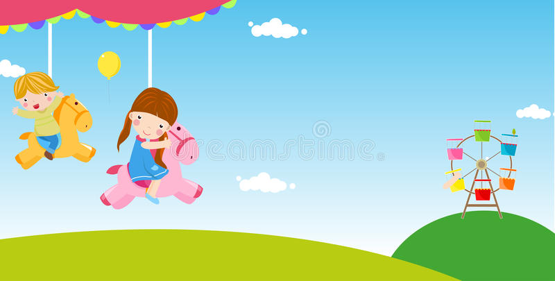 Niños que se divierten stock de ilustración