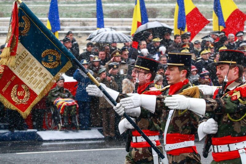 Niños rumanos en un desfile imagen de archivo libre de regalías