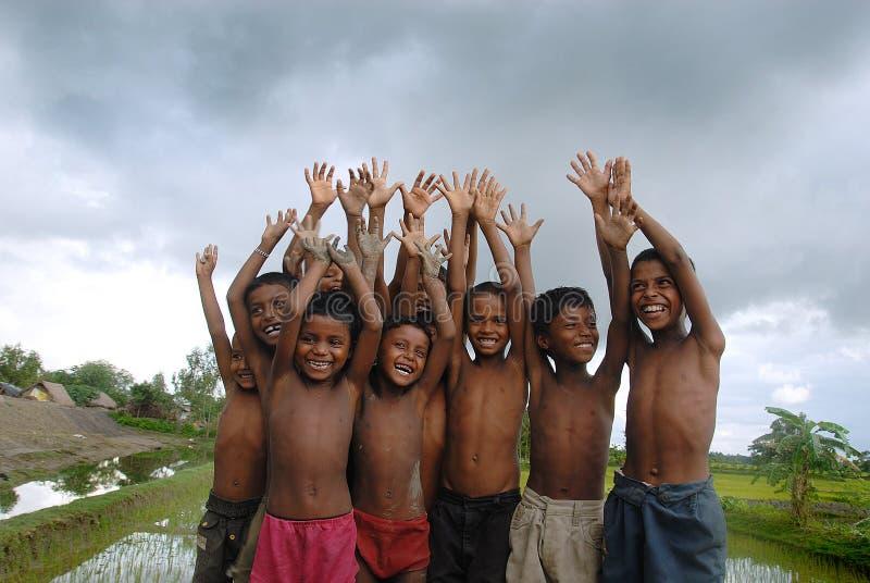 Niños rurales en la India imagen de archivo