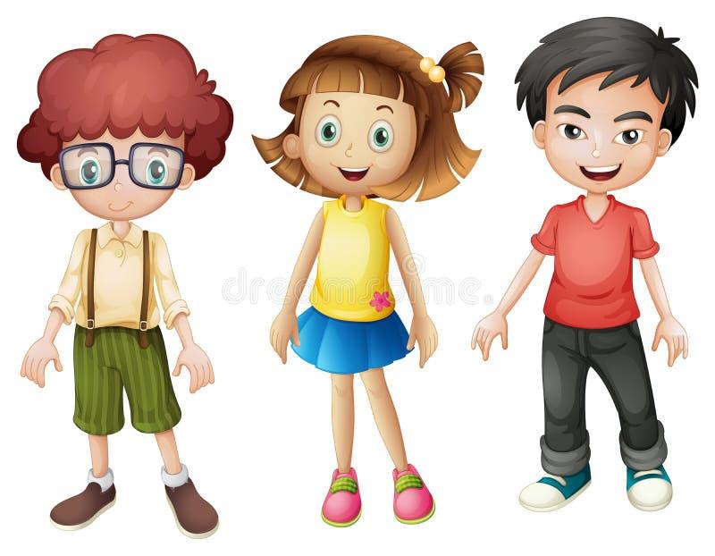 Niños sonrientes stock de ilustración