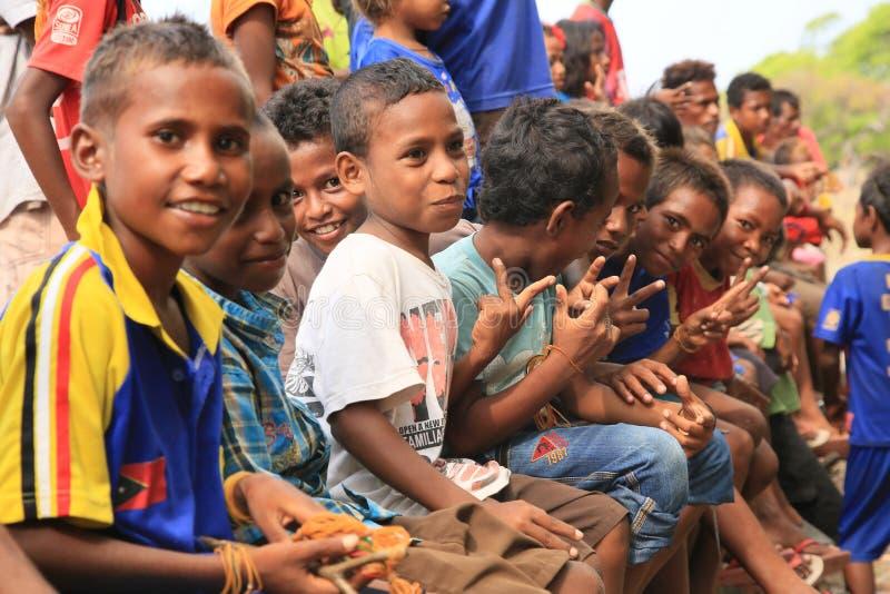 Niños Timor Oriental fotografía de archivo libre de regalías
