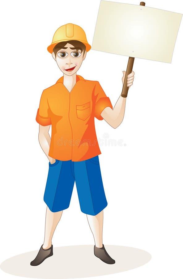 Niños y banderas stock de ilustración