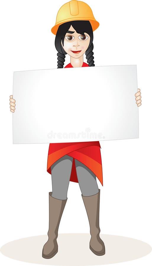 Niños y banderas ilustración del vector
