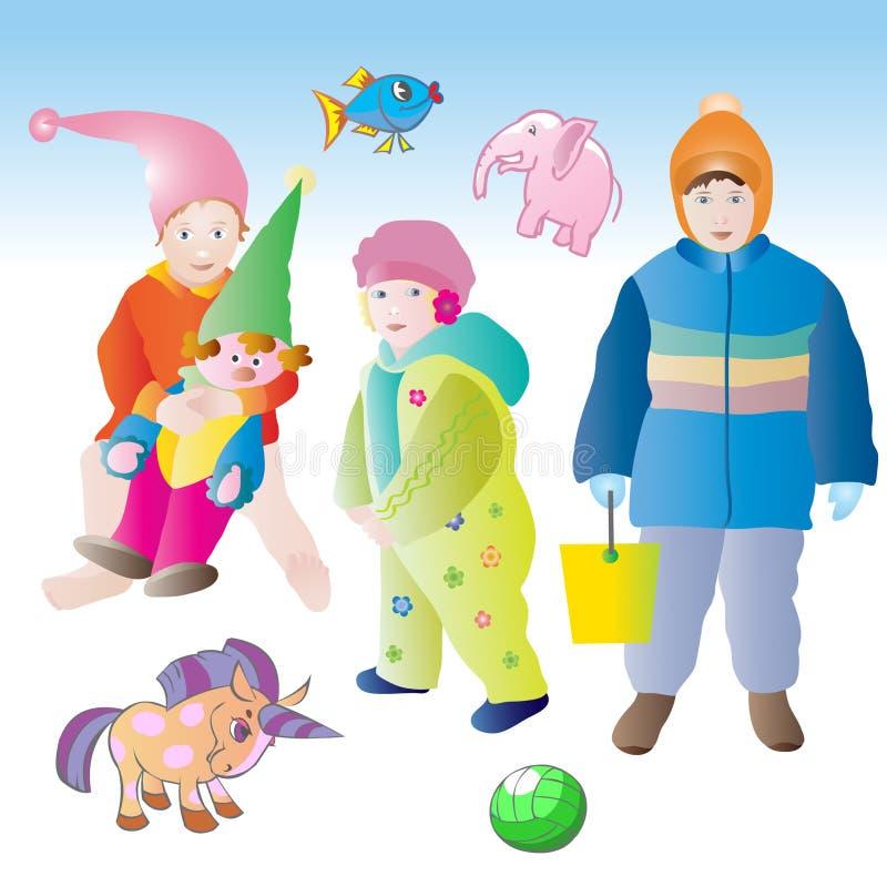 Niños y juguetes foto de archivo libre de regalías