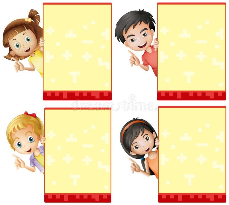 Niños y muestras stock de ilustración