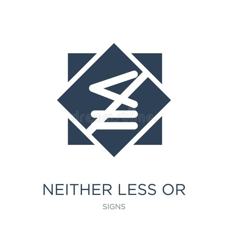 ni moins ou exactement icône égale dans le style à la mode de conception ni moins ou exactement icône égale d'isolement sur le fo illustration de vecteur