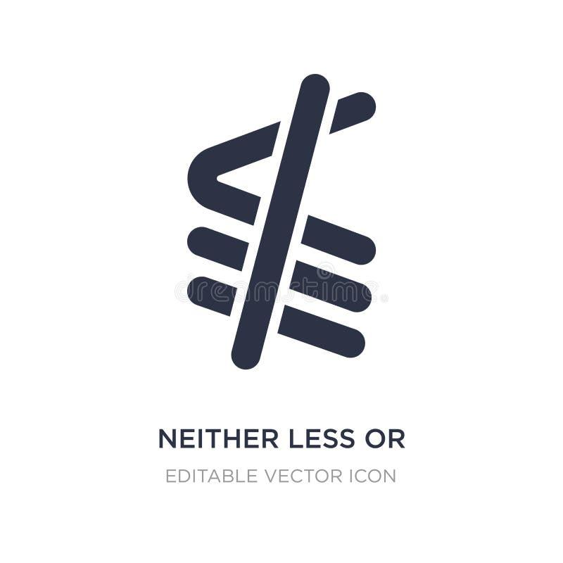 ni moins ou exactement icône égale sur le fond blanc Illustration simple d'élément de concept de signes illustration de vecteur