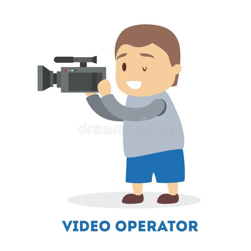 Ni?o que juega como cameraman Ni?o con un especial libre illustration