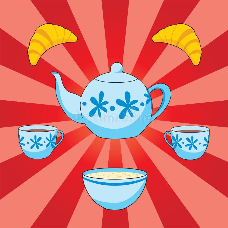 Download śniadanie ilustracja wektor. Ilustracja złożonej z kuchnia - 13339398