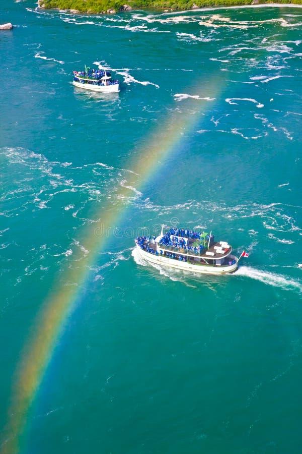 niagara над радугой стоковая фотография rf