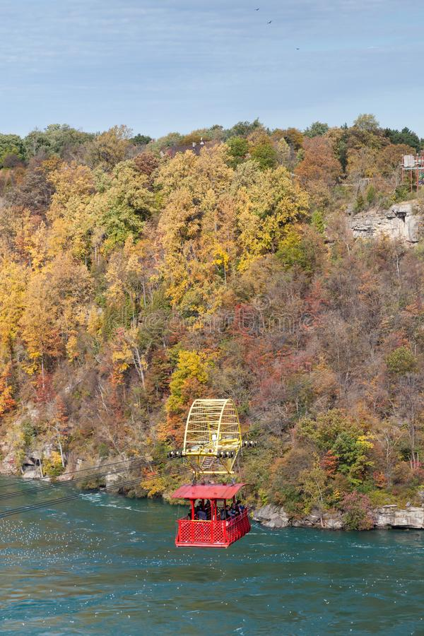 The Niagara Cable Car above the Niagara Whirlpool royalty free stock images
