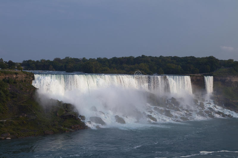 Niagara Falls. New York Niagara Falls in the late afternoon, view from the Canadian side royalty free stock image