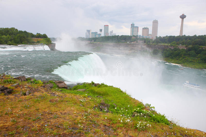 Download Niagara Falls stock photo. Image of travel, flowers, united - 29952850