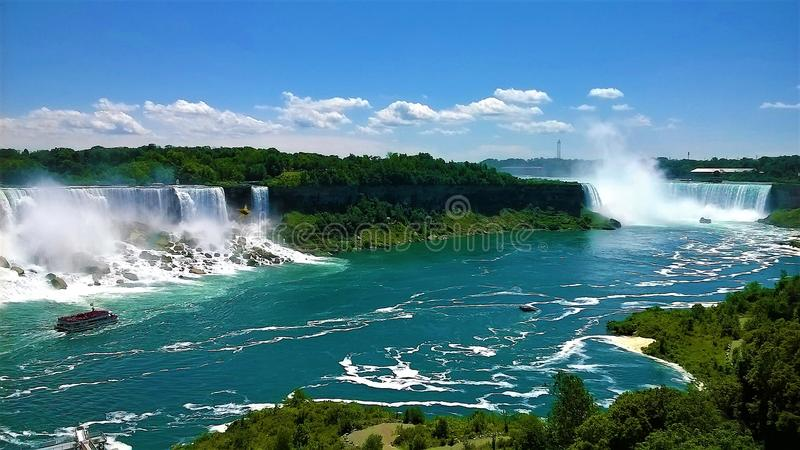 Niagara Falls a beautiful summer day royalty free stock photo