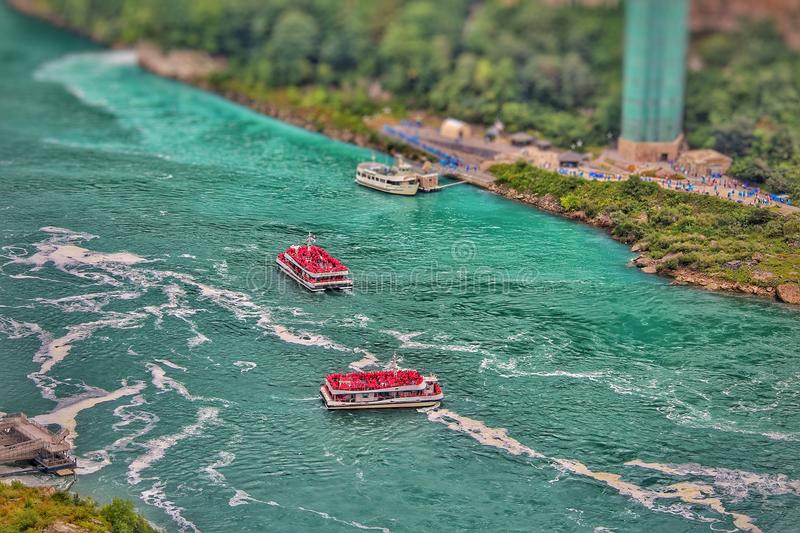 Niagara Falls boats royalty free stock photo