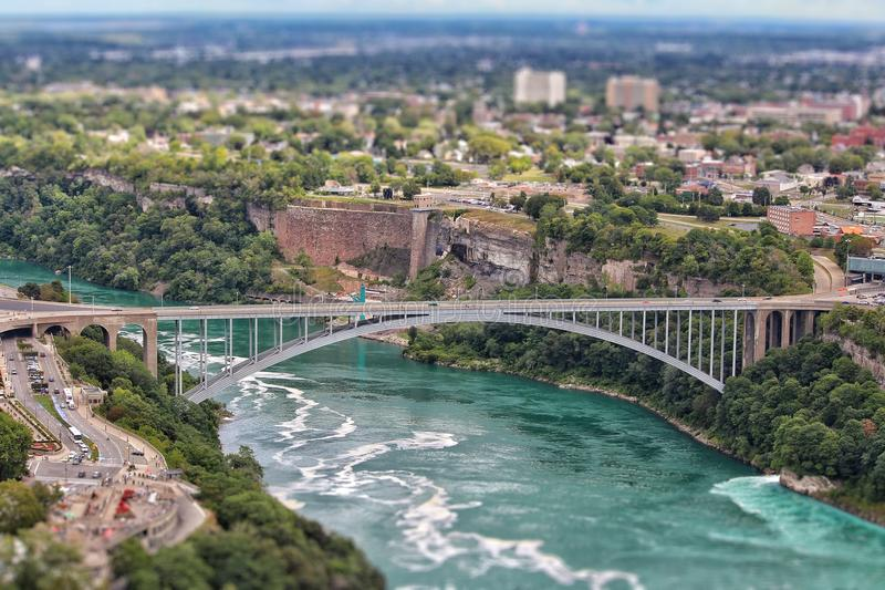 Niagara Falls Bridge stock photography