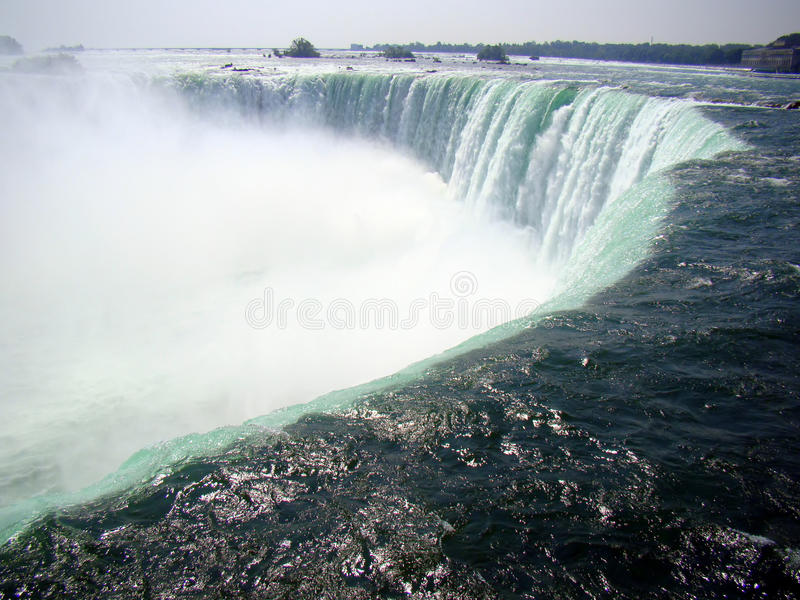 Niagara Falls, Canada - the edge of the waterfall royalty free stock image