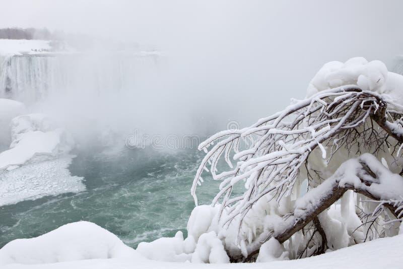 Niagara Falls, Canada in winter stock photography