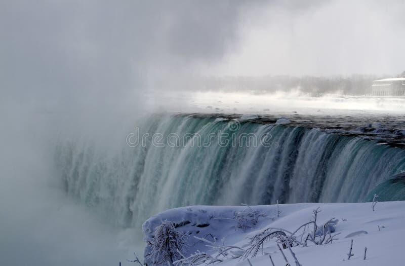 Niagara Falls cascading in winter season