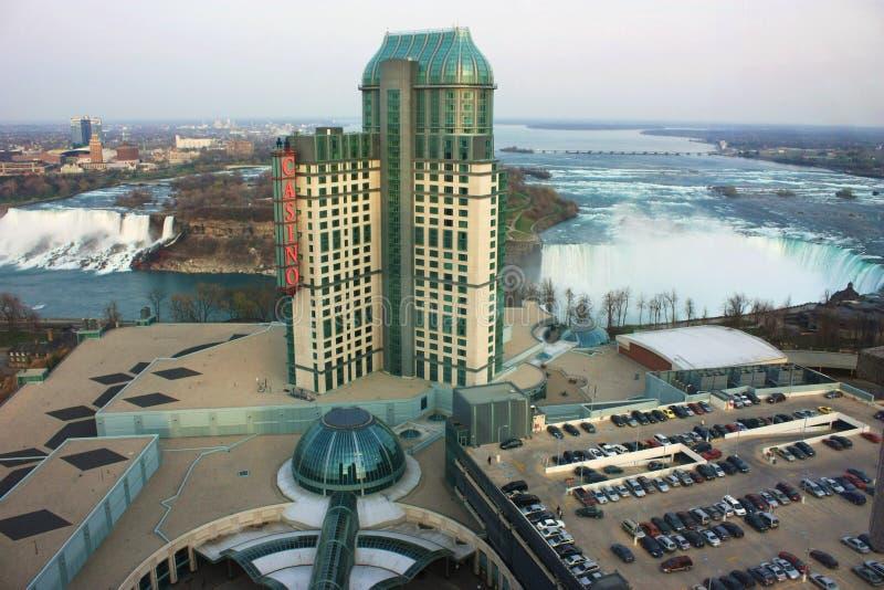 Niagara Falls & casino fotografia de stock