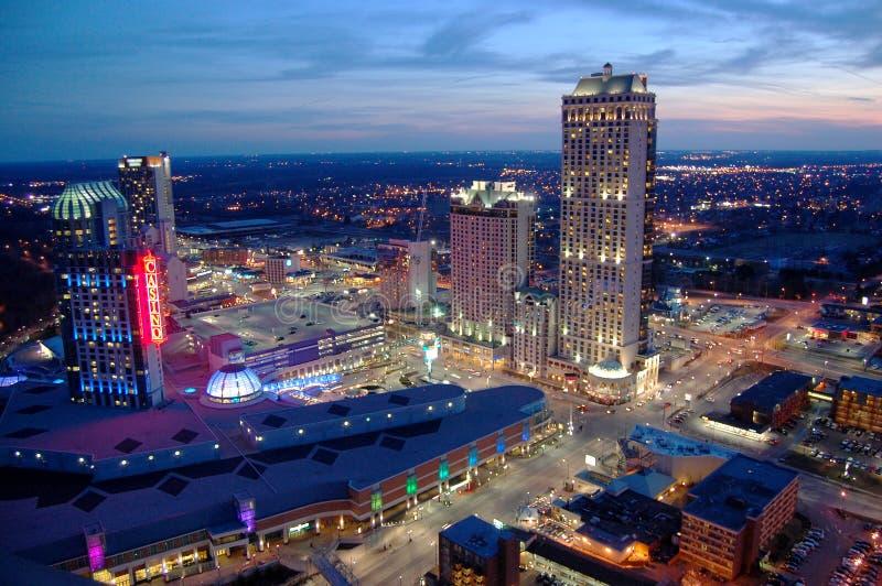 Niagara Falls Casino and Resorts. At sunset, Canada stock photo