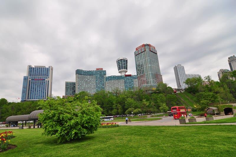 The Niagara falls city stock photo